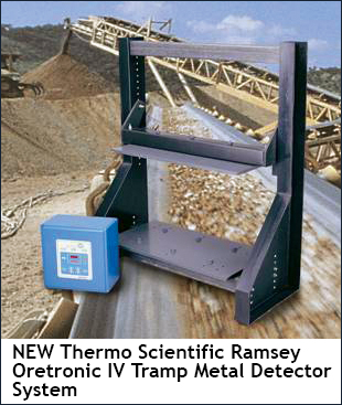 NEW Thermo Scientific Ramsey Oretronic IV Tramp Metal Detector System